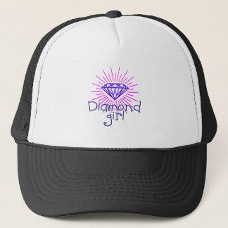 Boné menina do diamante, gema que brilha