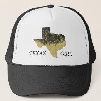 Boné Menina preta de Texas dos confetes do ouro