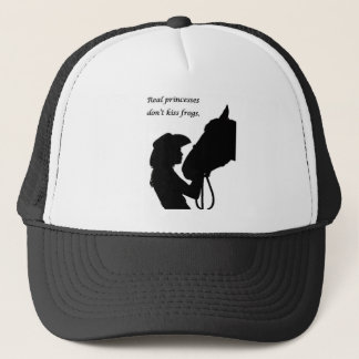 Boné Menina que beija o cavalo