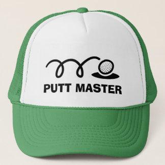 Boné Mestre engraçado da tacada leve dos chapéus | do
