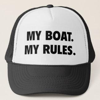 Boné Meu barco. Minhas regras