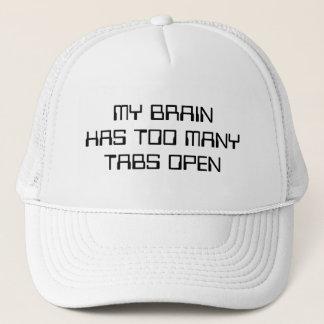 Boné Meu cérebro tem abas demais abertas