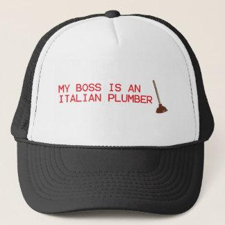 Boné Meu chefe é um canalizador italiano - jogo de