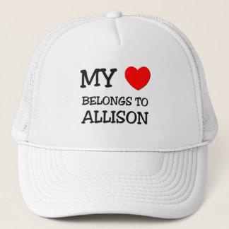 Boné Meu coração pertence a ALLISON