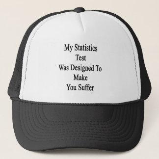 Boné Meu teste das estatísticas foi projetado fazê-lo