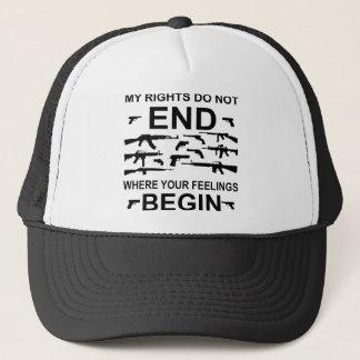 Boné Meus direitos não terminam onde seus sentimentos