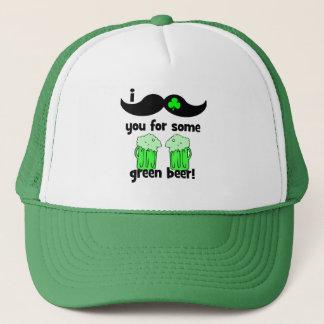 Boné Mim bigode você para alguma cerveja verde!