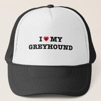 Boné Mim coração meu chapéu do camionista do galgo