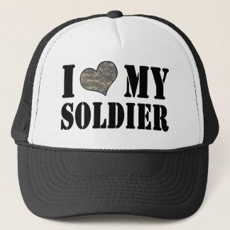 Boné Mim coração meu chapéu do soldado