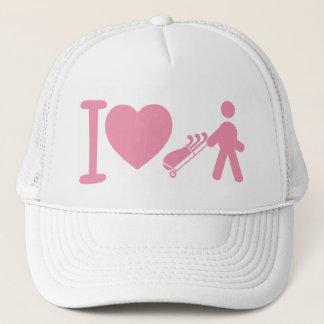 Boné Mim de mulheres brancas Golfing do golfe do