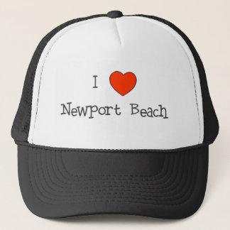 Boné Mim praia de Newport do coração