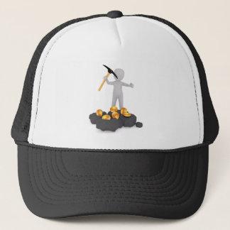 Boné Mineiro de Bitcoin que mina o chapéu do camionista