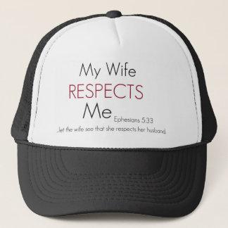 Boné Minha esposa respeita-me 5:33 de Eph