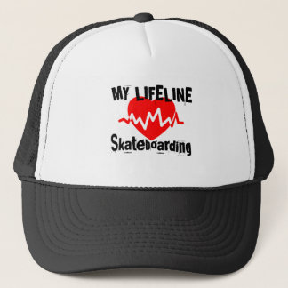 Boné Minha linha de vida design Skateboarding dos