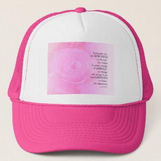 Boné Mistura do rosa do rosa da oração da serenidade