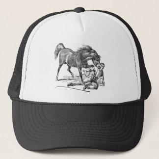 Boné Modelo cortante vicioso irritado do cavalo do