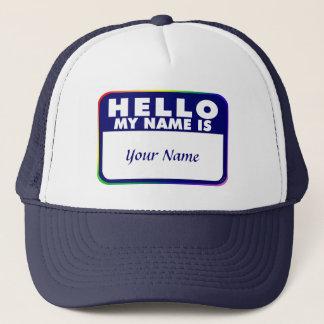 Boné Modelo do nome de etiqueta