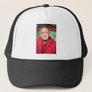 Boné Monge budista na veste vermelha