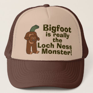 Boné Monstro engraçado de Bigfoot Loch Ness