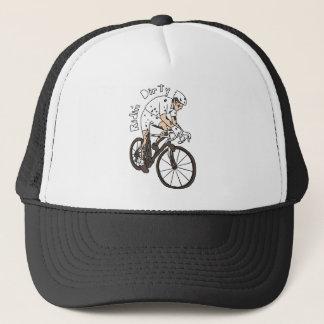 Boné Montada do cavaleiro de Cyclocross suja