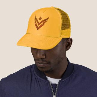 Boné Mostarda do chapéu do camionista de VJ