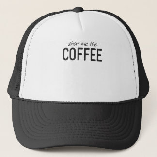 Boné Mostre-me o café impressão engraçado