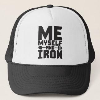 Boné Motivação do Bodybuilding - mim, eu mesmo e ferro