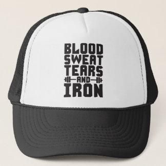 Boné Motivação do exercício - sangue, suor, rasgos, e