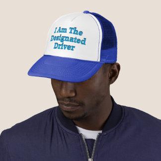 Boné Motorista designado no chapéu azul