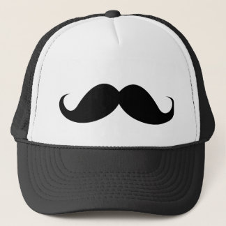 Boné Moustache preto engraçado do bigode do guiador