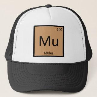 Boné MU - Símbolo do elemento de mesa periódica da