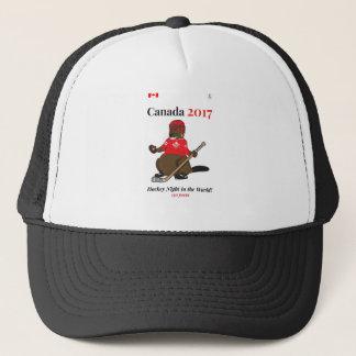 Boné Mundo da noite do hóquei do castor de Canadá 150