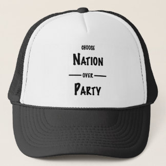 Boné Nação sobre a coleção do presente do partido