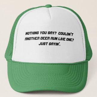 Boné Nada você diz o chapéu
