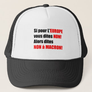 Boné Não chapéu político francês do à MACRON