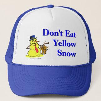 Boné Não coma a neve amarela