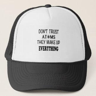 Boné Não confie átomos que compo tudo