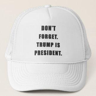 """Boné """"Não esqueça. O trunfo é presidente."""" Chapéu"""