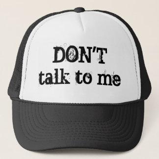 Boné Não fale