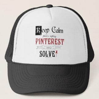 Boné Não mantenha a calma, lá seja que nada Pinterest