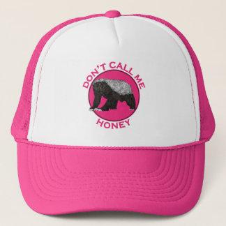 Boné Não me chame arte da feminista do rosa do texugo
