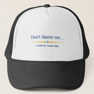 Boné Não me responsabilize - eu votei para Sarah Palin
