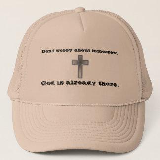 Boné Não preocupe a cruz do chapéu w/Blue do camionista