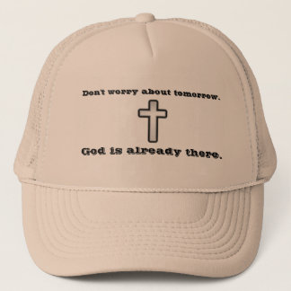 Boné Não preocupe a cruz do esboço do chapéu w/Black do