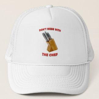 Boné Não suje com o chapéu do camionista do cozinheiro