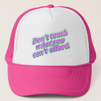 Boné Não toque no chapéu