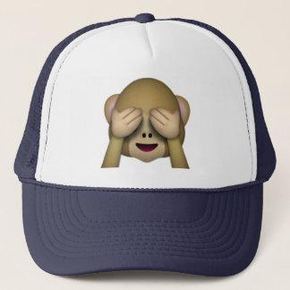 Boné Não veja nenhum macaco mau - Emoji