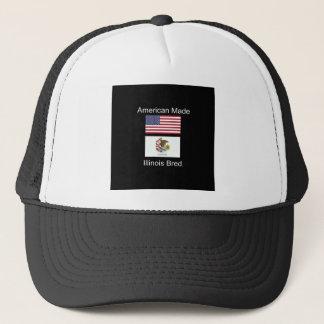"""Boné """"Nascer americano. Illinois produziu da"""" o design"""
