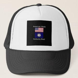 """Boné """"Nascer americano. Kentucky produziu da"""" o design"""