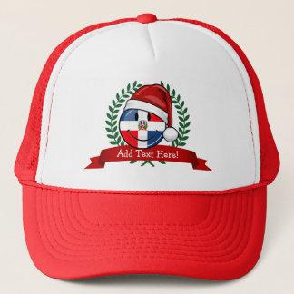 Boné Natal alegre da bandeira da República Dominicana
